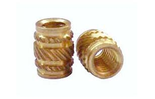 04.Brass Inserts Knurl Double Groove