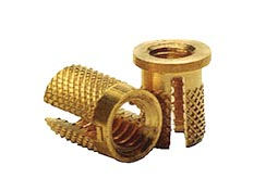 13.Brass Tri Slotted Extra Gripping Thread Inserts